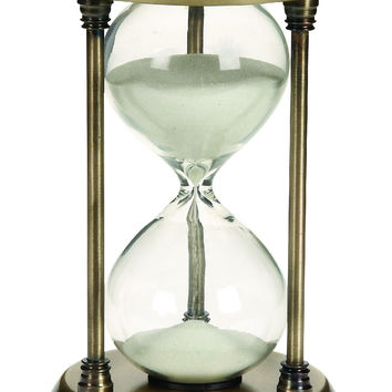 Metal/Glass Quarter Hourglass With 15 Minutes Time Interval