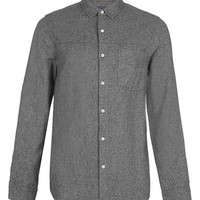 Topman Marled Cotton Shirt | Nordstrom
