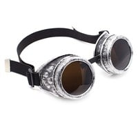 Antique Silver Goggles | Cyber Rave Burner Goggles at RaveReady
