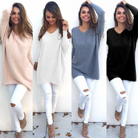 Knit Tops Winter Casual Sweater Bottoming Shirt [9067306500]