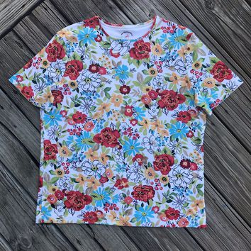 WHITE STAG Women's SIZE Medium 8/10 100% Cotton Floral T-shirt