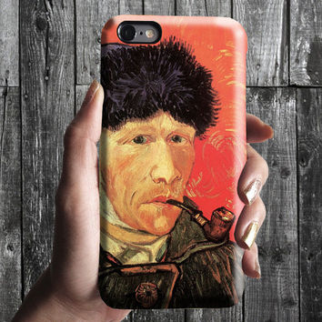Selfportrait 5 - Van Gogh iPhone Case 6, 6S, 6 Plus, 4S, 5S. Mobile Phone Cell. Art Painting. Gift Idea. Anniversary. Gift for him and her