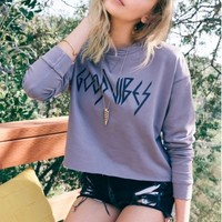 Good Vibes - Jessa Sweatshirt in Moondust