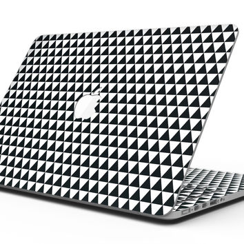 The All Over Black Micro Triangles - MacBook Pro with Retina Display Full-Coverage Skin Kit