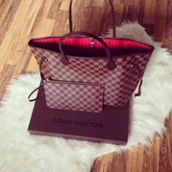 LV classic fashion wild shopping bag shoulder bag mother bag two-piece