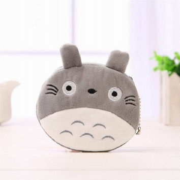 My Neighbor TOTORO Coin Purse Plush Cotton Wallet Pouch Case BAG Women Lady Bags 10*10CM