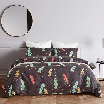 Cartoon Jacquard Comforter Bedding Set 3PCS Bedclothes Fashion Flower Bed Linen Sheet Duvet Cover Sets US Twin/Queen/King Size