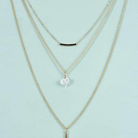 Julia Crystal And Bar Layered Necklace