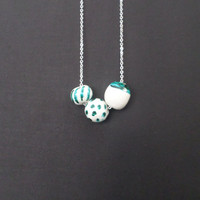ceramic necklaces/ ceramic bead necklace/ jewelry ceramic bead