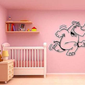 Wall Stickers Vinyl Decal Cheerful Hippo Animal for Kids Room Nursery Unique Gift (ig708)