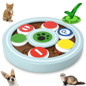 Proffcenter Best Interactive Fan Eco-friendly Food Treated Wooden Puzzle IQ Toy Game for Dogs cats ferret and Pets Feeder Hide and Seek Toys '