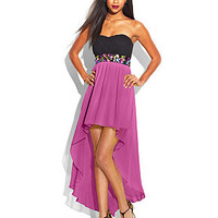 Teeze Me Juniors' Colorblock High-Low Dress