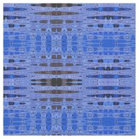 Blue and Black Vibrations Abstract Fabric