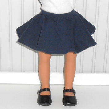 18 inch Girl Doll Clothes Navy Blue Skater Skirt American Doll Clothes
