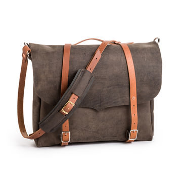 Large Leather Messenger Bag