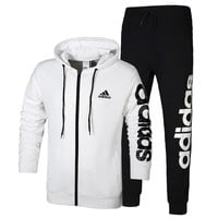 Boys & Men Adidas Cardigan Jacket Coat Pants Trousers Set Two-Piece