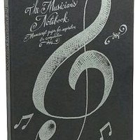 Musician's Black Notebook: Manuscript Paper for Inspiration and Composition