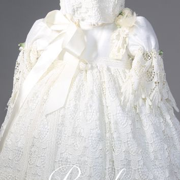 Christening Gown with Bonnet-Bautismo-Rosalia
