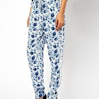 ASOS Trousers in Soft Floral Print at asos.com