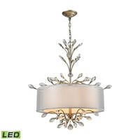 16282/4-LED Asbury 4 Light LED LED Chandelier In Aged Silver - Free Shipping!