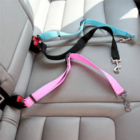 Color Dog Pet Car Safety Seat Belt Harness Restraint Lead Leash Travel Clip