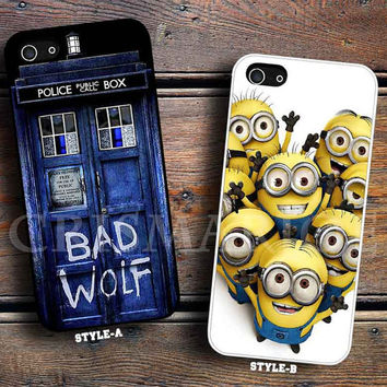 Tardis Dr Who Bad Wolf & Despicable me minion