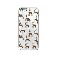 Reindeer Pattern Merry Christmas Transparent Silicone Plastic Phone Case for iphone 6PLUS _ LOKIshop (iphone 6 plus)
