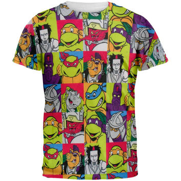 Teenage Mutant Ninja Turtles - Cast All Over Adult T-Shirt