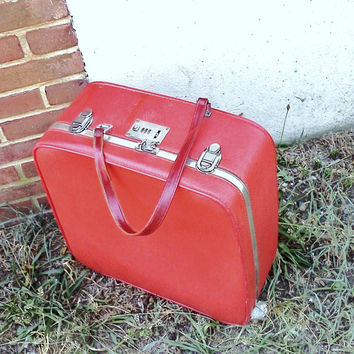 "Red Vintage Luggage - ""On the Go"""