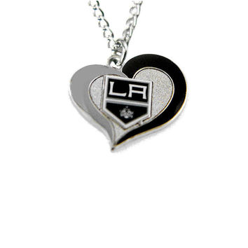 Los Angeles Kings Women's Swirl Heart Necklace