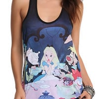 Disney Alice In Wonderland Tea Party Tank Top 2XL
