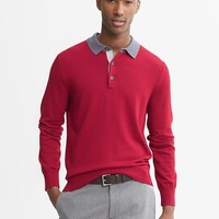 Banana Republic | Elbow Patch Rugby Pullover