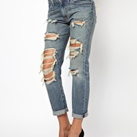 Denim & Supply By Ralph Lauren Ripped Boyfriend Jeans at asos.com