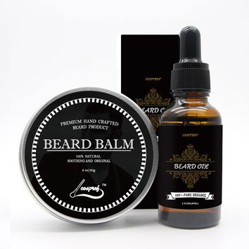 Cospof Beard Balm Moustache Cream Beard Oil Set