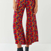 UO Printed Cropped Kick Flare Pant | Urban Outfitters
