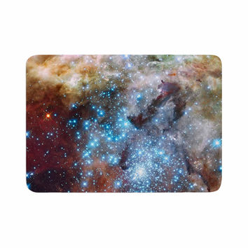 "Suzanne Carter ""Star Cluster"" Blue Space Memory Foam Bath Mat"