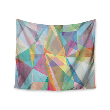 """Mareike Boehmer """"Graphic 32"""" Rainbow Abstract Wall Tapestry"""