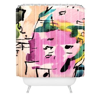 Ginette Fine Art Pink Twink Abstract Shower Curtain
