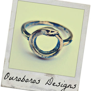 Sterling Silver Small Ouroboros ring