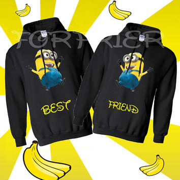 Two Matching BEST FRIEND Hoodie Sweatshirt S-2XL