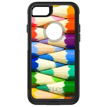 DistinctInk™ OtterBox Commuter Series Case for Apple iPhone or Samsung Galaxy - Rainbow Colored Pencils