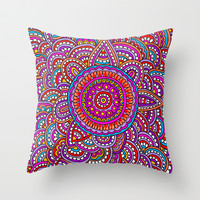 Marigold Throw Pillow by PeriwinklePeacoat