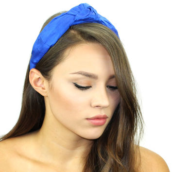Dupioni Silk Top Knot Headband