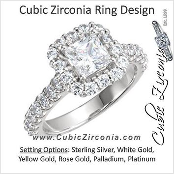 Cubic Zirconia Engagement Ring- The Ivania