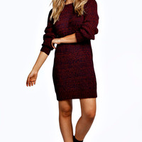 Saskia Soft Laguna Knit Marl Mix Jumper Dress