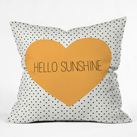 Deny Designs Hello Sunshine Heart Pillow Multi  In Sizes Small For Women 27339495702