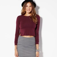 AE EFFORTLESSLY CHIC STRIPED BODYCON SKIRT