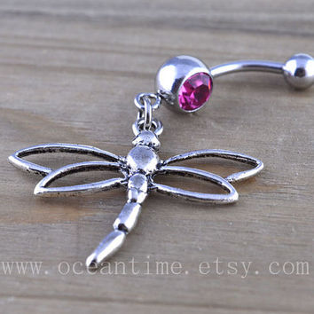 Dragonfly Belly Button Rings,Navel Jewlery,dragon fly belly button ring, navy ring,summer jewelry