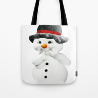 Snowman Tote Bag by Knm Designs