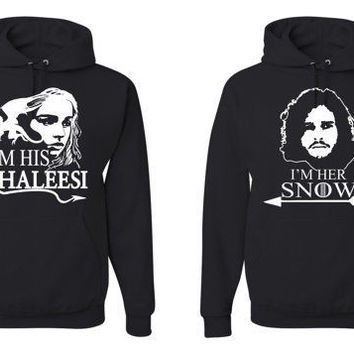 His Khalees Her Snow Game Of Thrones valentines day Matching Sweatshirts